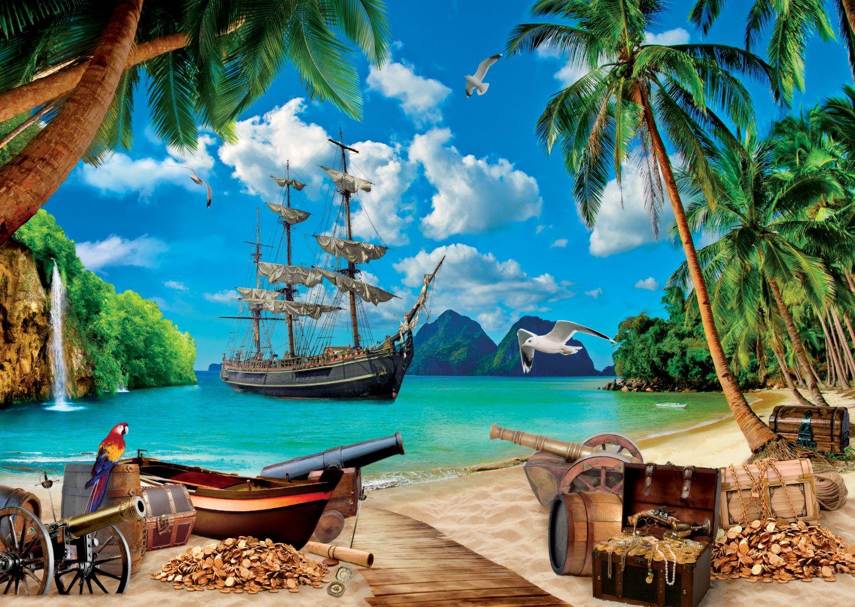 Фотообои «Сокровища пиратов»