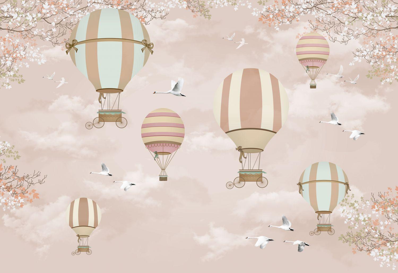 Фотообои «Воздушные шары в пудре»