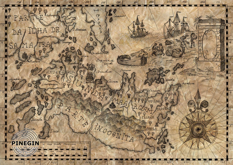 Фотообои «Старинная карта»