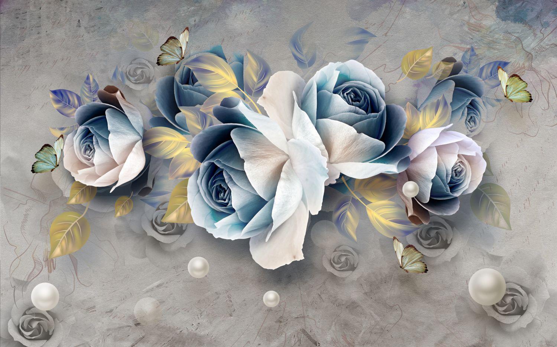 Фотообои «Синие розы»
