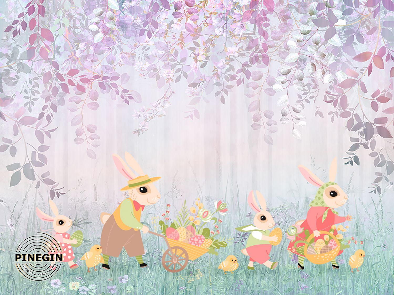 Фотообои «Зайцы в лесу»
