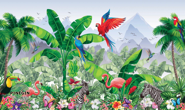 Фотообои «Сочные краски джунглей»