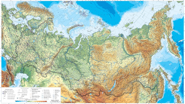 Фотообои «Физическая карта России»