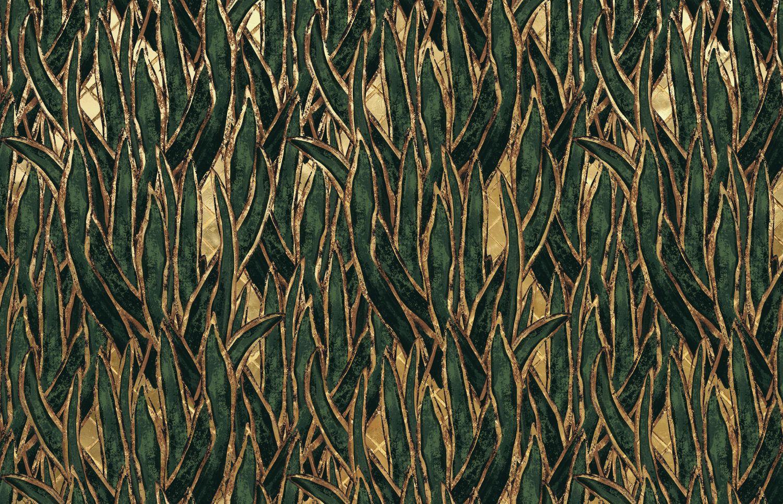 Фрески «Листья с золотом»