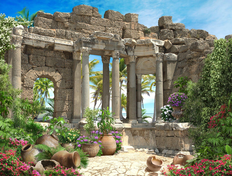 Фотообои «Руины в тропиках»