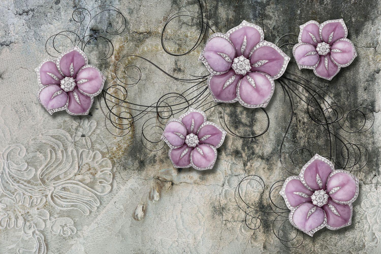 Фотообои «Лиловые цветы»