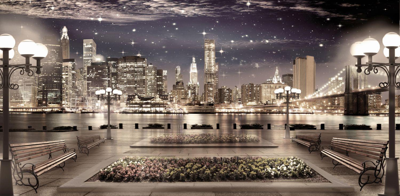 Фотообои «Ночной город»