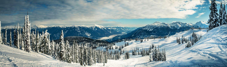 Фотообои «Зима в горах - пейзаж»