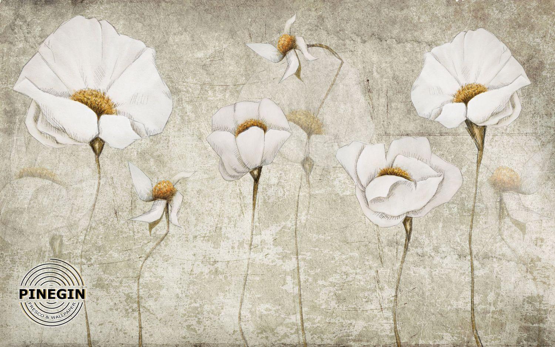 Фотообои «Белые маки»
