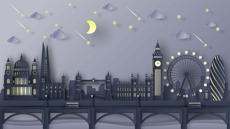 Фотообои «Сказочная ночь в Лондоне»
