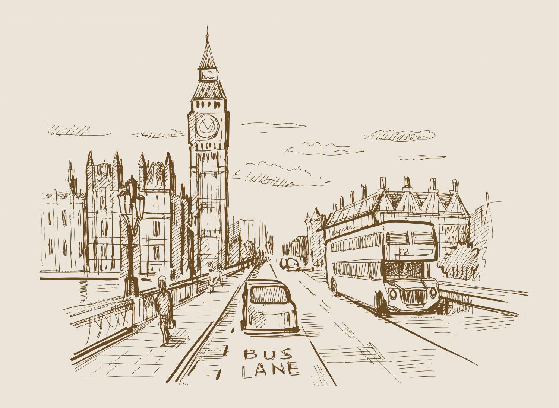 Фотообои «Лондон в пастельных тонах»