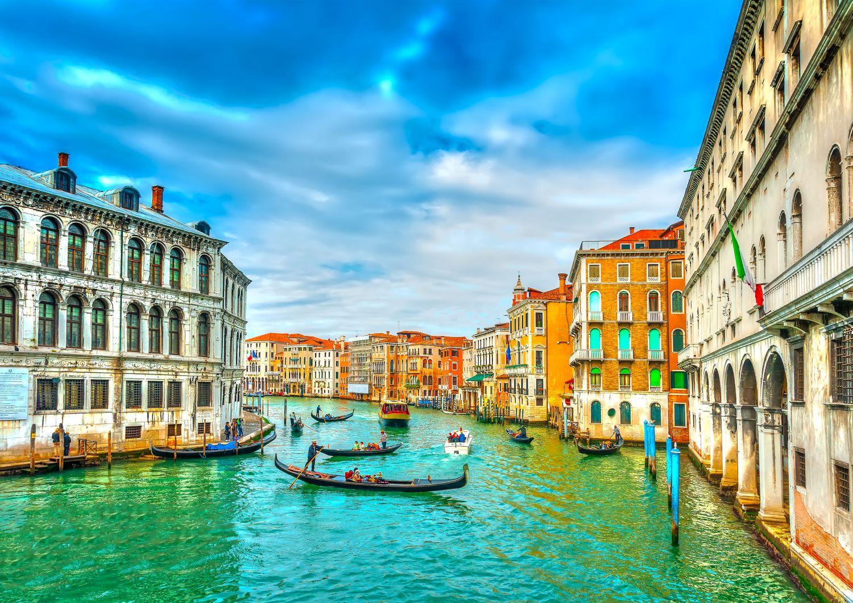 Фотообои «Гранд-канал и гондолы в Венеции »