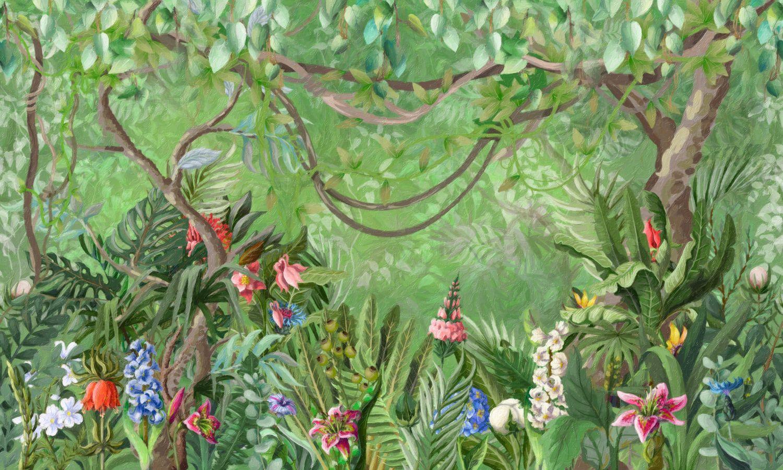 Фотообои «Акварельные джунгли»