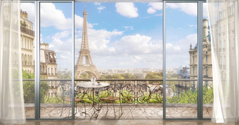 Фотообои «Вид на Эйфелеву башню»