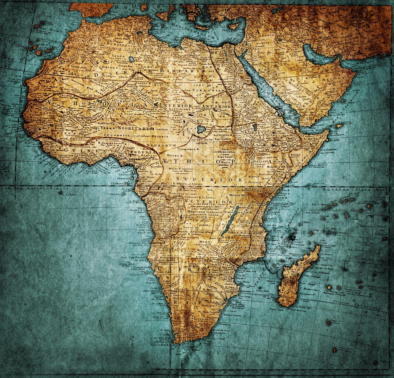 Фотообои «Карта Африки винтаж»