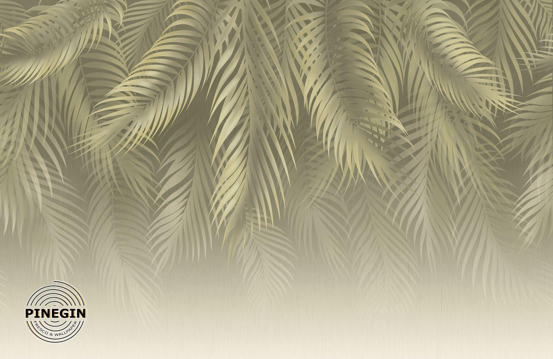 Фотообои «Нежно-салатовые пальмовые листья»