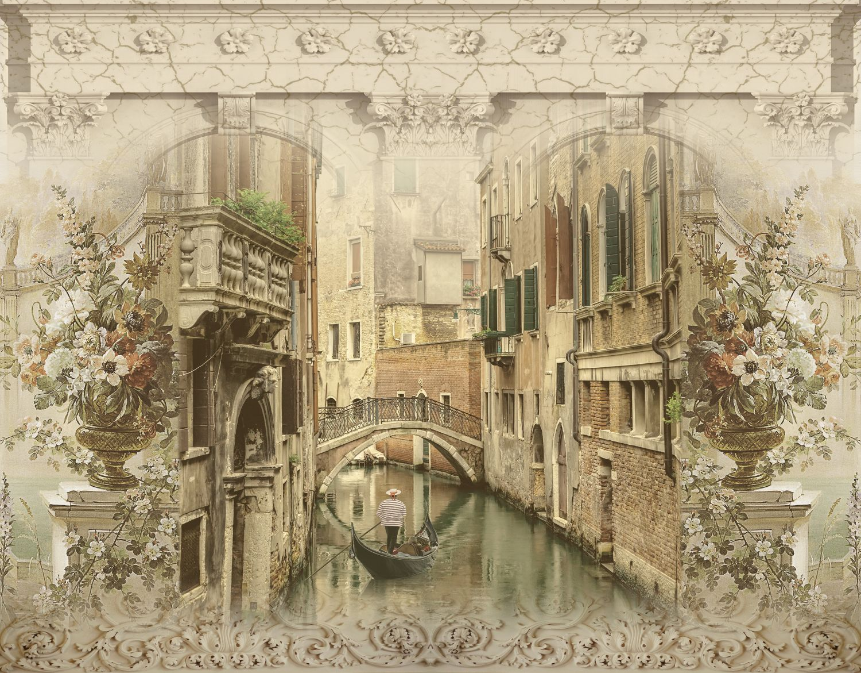 Фотообои «Винтажная венецианская фреска»
