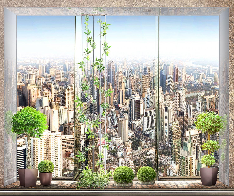 Фрески «Вид на мегаполис»