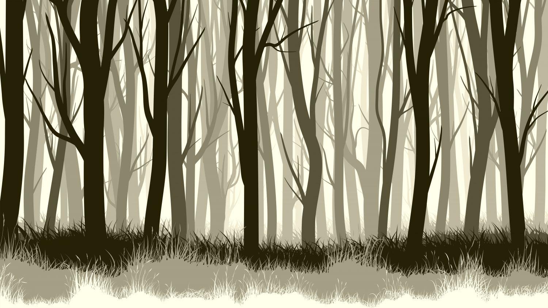 Фотообои «Деревья без листьев»