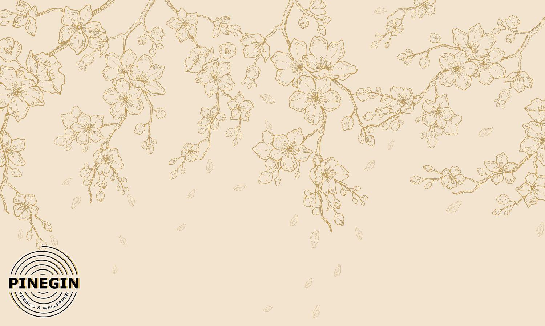 Фрески «Ветви сакуры GL18»