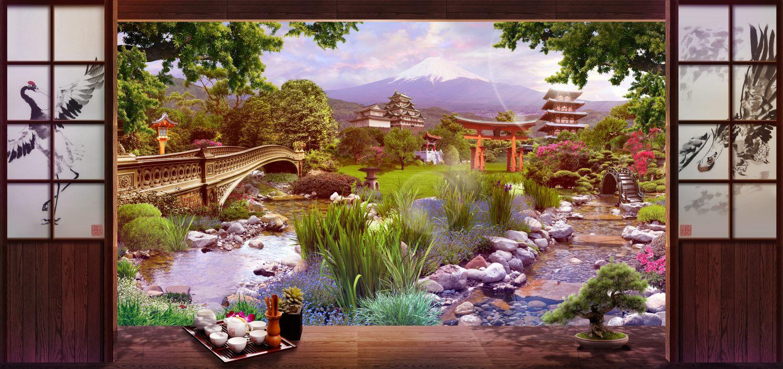 Фотообои «Вид на Фудзияму»
