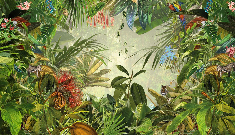 Фотообои «Красочные джунгли»
