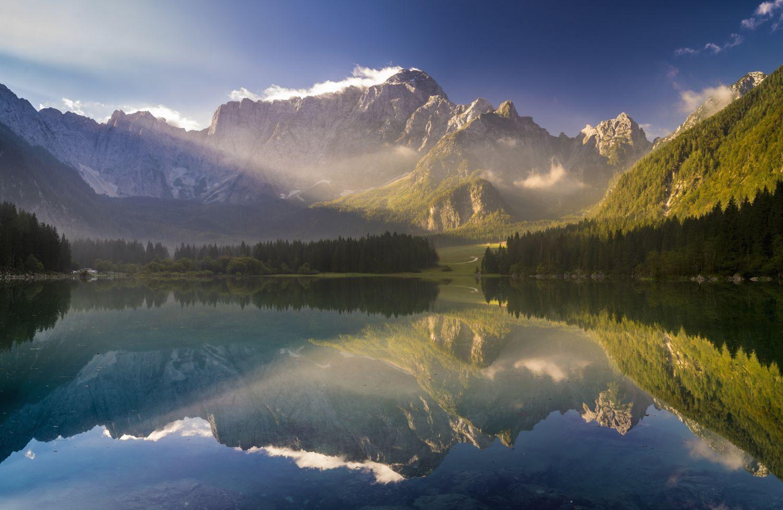 Фрески «Красивая природа отражение»