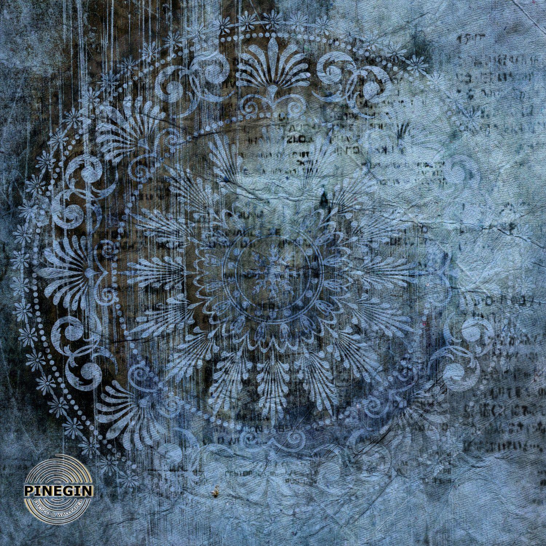 Фотообои «Синий орнамент»