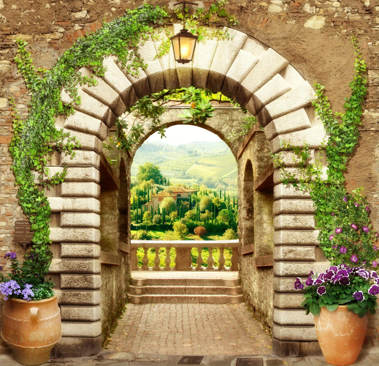 Фотообои «Кирпичная арка»