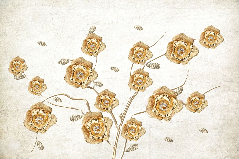 Фотообои «Золотые цветы»