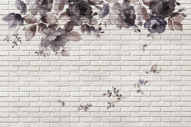 Фотообои «Белый клинкер»