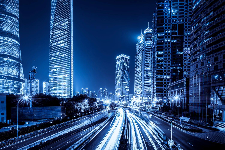 Фотообои «Ночная жизнь в городе»
