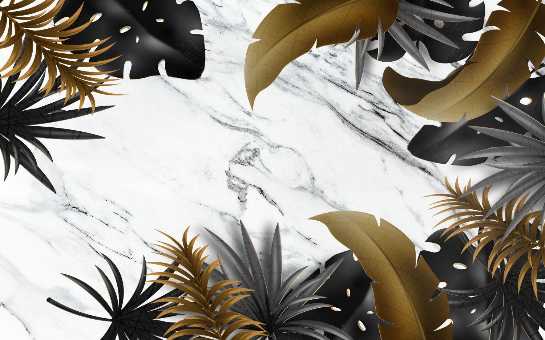 Фотообои «Темные листья на светлом фоне»