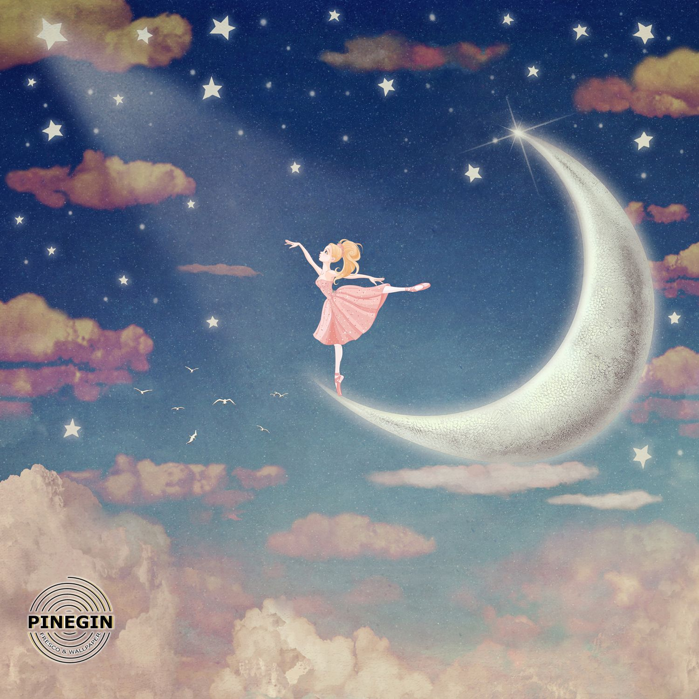Фотообои «Балерина в облаках»