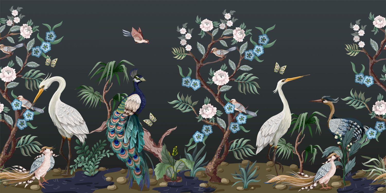 Фотообои «Шинуазри ночной сад»