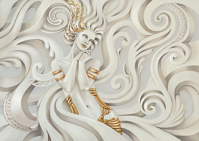 Фотообои «Греческая Богиня крупные 3D узоры»