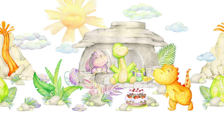 Фотообои «Динозавры рисунок для детской»