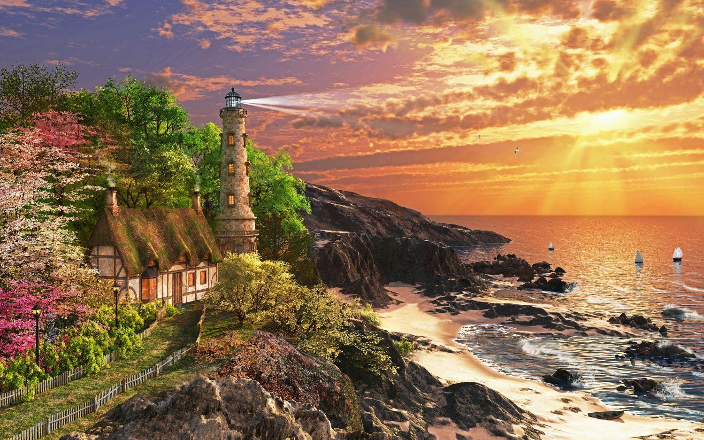 Фотообои «Морской маяк»