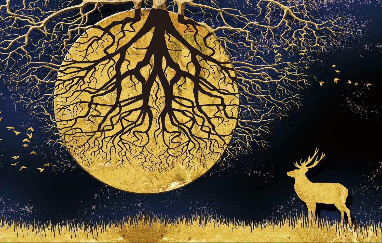 Фотообои «Дерево на луне»