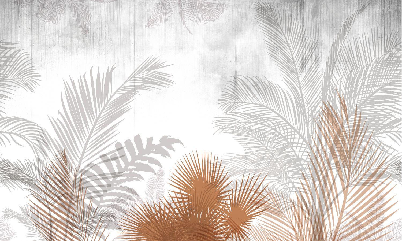 Фрески «Листья в мягких тонах»