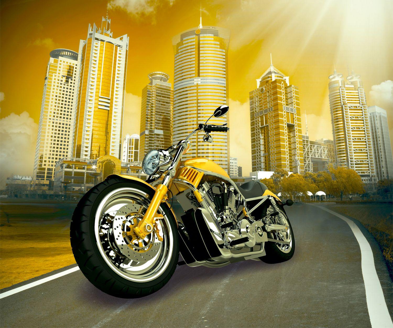 Фрески «Желтый мотоцикл»