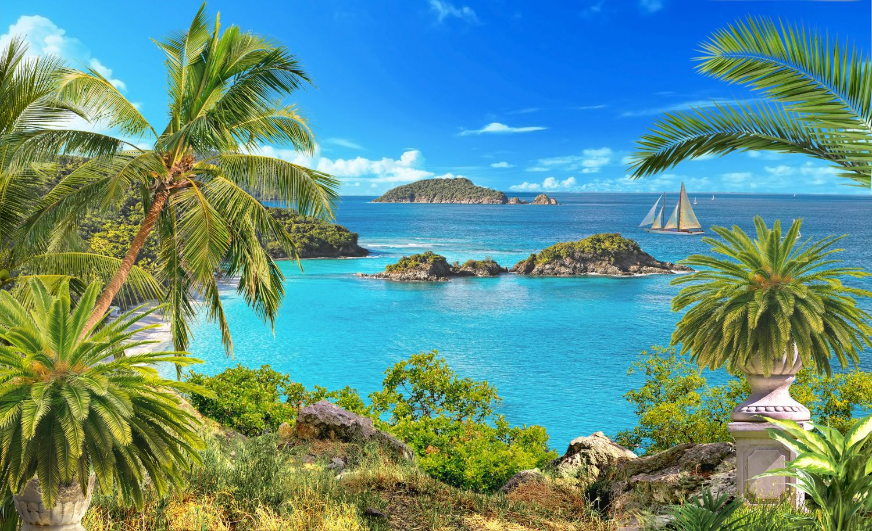 Фотообои «Экзотический остров»
