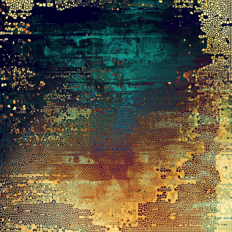 Фотообои «Охристая мозаика»