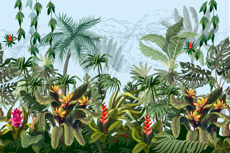 Фрески «Дикая природа джунглей»