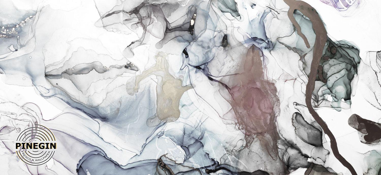 Фотообои «Серебряный флюид»
