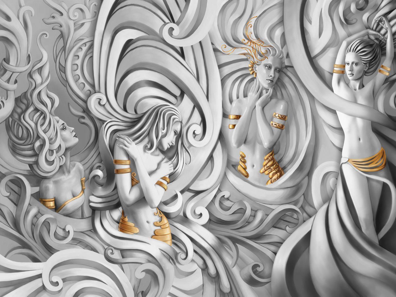 Фотообои «Танец богинь»