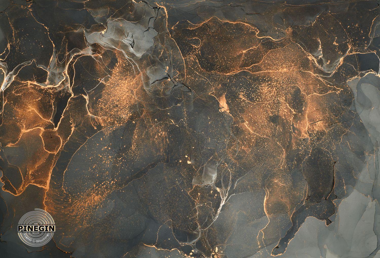 Фотообои «Серо-золотой флюид»