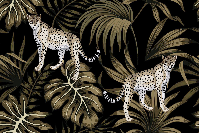 Фрески «Леопарды 14»