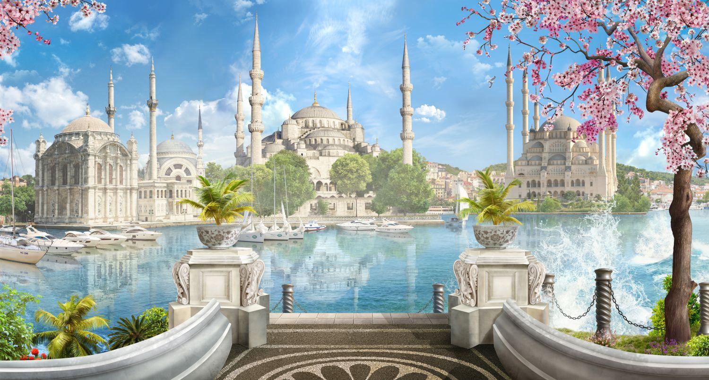 Фотообои «Мечеть весной»