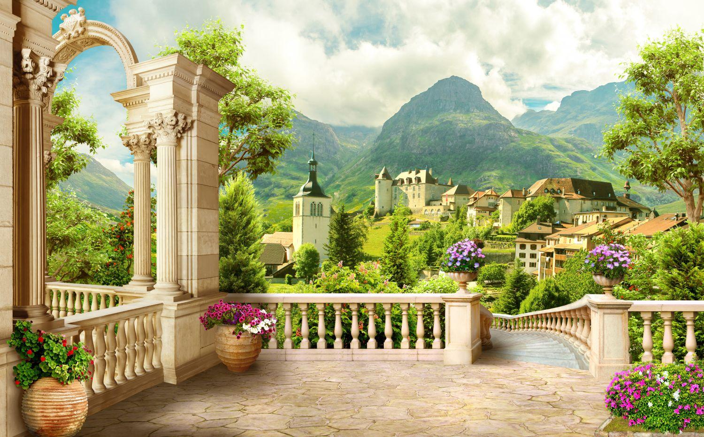 Фотообои «Вид на зеленые горы»